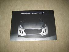Jaguar F-Type Prospekt brochure von 2014, 6 Seiten