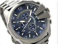 BRAND NEW DIESEL BLUE MEGA CHEIF CHRONOGRAPH STAINLESS STEEL MEN WATCH DZ4329%09