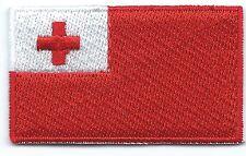 Tonga Flag Embroidered Patch Iron-on Motif Art Good Luck Magic