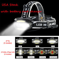 100000lm LED headlamp Rechargeable Headlight work light 7 modes Flashlight 18650