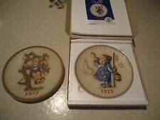 Mj Hummel Goebel 2nd Annual Plate 1972 Hum265 plus a 1977 plate