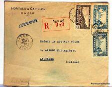 Lettre  1938  SENEGAL DAKAR SUISSE  LAUSANNE   AV36