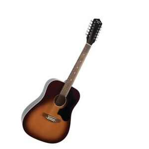 Recording King Dirty 30s Series 9 12-String Dreadnought Acoustic Tobacco Sunburs