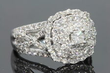 10K WHITE GOLD 2 CARAT WOMEN REAL DIAMOND ENGAGEMENT RING WEDDING RING BRIDAL