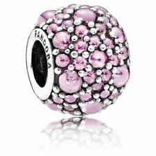 PANDORA Jewelry Charm Glittery Droplets Pink 791755PCZ