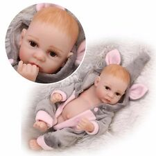 "10"" Reborn Baby Dolls Lifelike Newborn Babies Full body Vinyl Silicone Boy Doll"