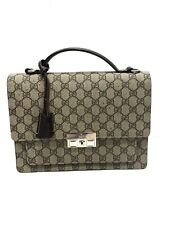GUCCI GG Supreme Brown Top Handle Small Briefcase Bag