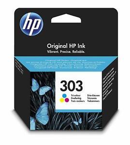 Genuine HP Original 303 Tri Colour Ink Cartridge T6N01AE ENVY Photo 5230