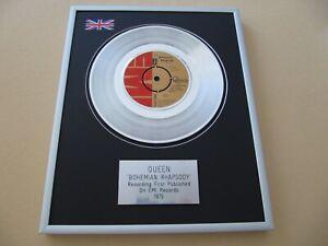 QUEEN Bohemian Rhapsody PLATINUM PRESENTATION DISC