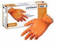 Reflexx N85 guanti confezione 50 guanti in nitrile taglia XXL arancione  senza p