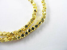 Karen hill tribe 24k Gold  Vermeil Style 75 Faceted Beads 2mm.