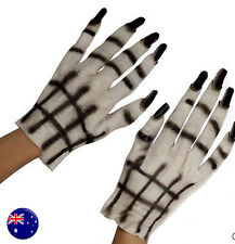 Halloween Scary Costume Party Skull Skeleton Ghost Zombie Gloves dress up Prop