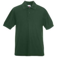 Camicia Polo verde per bambini dai 2 ai 16 anni