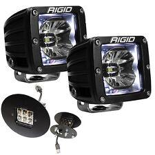 Rigid Radiance LED Fog Light Kit w/White Backlight for GMC Sierra 1500 2500 3500
