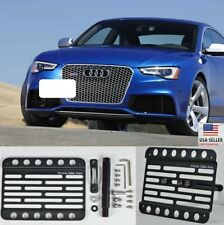 Front Bumper Tow Hook Mount Bracket License Plate Adapter For 13-Up Audi RS5 8T
