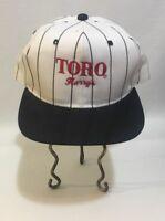 Toro Lawn Care Adjustable White Pinstripe Hat Cap Harry's Vancouver Washington