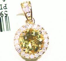1.28ct 14k ORO NATURAL AMARILLO Emerald Berilio Diamante De Compromiso