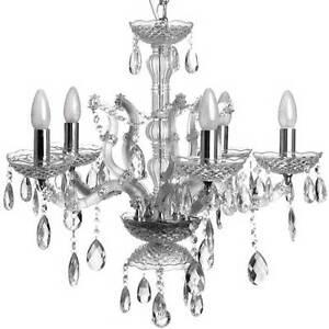 Chandelier / silver / Crystal Drop Chandelier / Ceiling Light