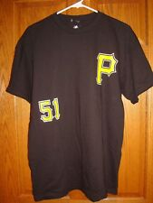 Majestic MLB Team Apparel Pittsburgh Pirates  Rodriguez #51 Jersey TShirt Men L