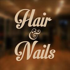 Hair and Nails Beauty Salon Shop Vinyl Sign Women Hairdressers Window Sticker