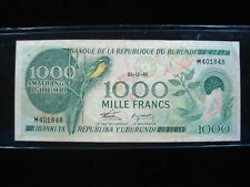 BURUNDI 1000 FRANCS 1986 P31 AFRICA COWS 48# WORLD BANKNOTE CURRENCY MONEY
