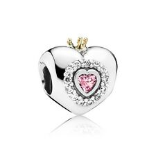 NEW! Authentic Pandora Princess Heart Pink CZ Charm #791375PCZ $90