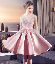 NEW Evening Formal Party Ball Gown Prom Bridesmaid SHORT Lace Hosting Dress DALF