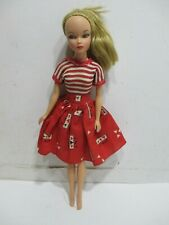 Vintage 1962 Uneeda Miss Suzette Doll Pony Tail Blond Original Dress Excellent