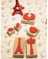 Korean Originality love Angel wings diary album decoration Wooden Rubber Stamp