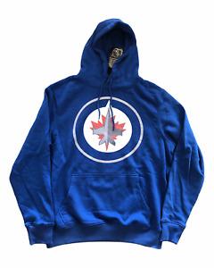Winnipeg Jets Men's Hoodie NHL Fanatics Logo Hoodie - Blue - New