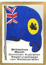 Western Australia DOMINION GREAT BRITAIN FLAG DRAPEAU CARD 30s