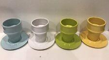 The Monkey & The Peddler 8 Pc. Liz Ross Ice Cream Sundae Cone Cups & Saucers Set