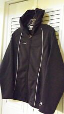 Nike Hoodie Women's Sz M, Black Polyester with Reflective Strips