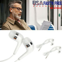 2 Pack Earbud In-Ear Headphones Stereo Bass Earphones For iPhone Samsung Pad PC