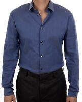 NEW CALVIN KLEIN MEN'S EXTREME SLIM FIT NON IRON HERRINGBONE DRESS SHIRT 33K3189