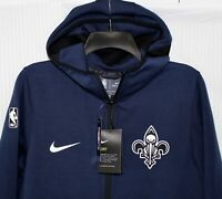 NIKE New Orleans Pelicans SHOWTIME PERFORMANCE MENS SMALL ZIP HOODIE, 940894 419