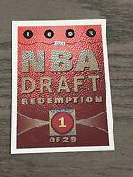 1995-96 Topps NBA Draft Expired Redemption #1 (Joe Smith) Warriors (B)