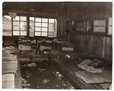 1945 Hospital Ward in Notorious Shinagawa POW Camp Japan Original News Photo