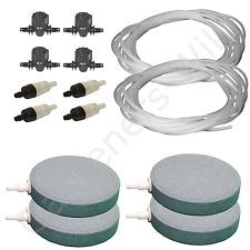 """4"""" 10cm air stone kit 4x diffuseur + vannes + non retour tuyaux +20m hydroponique pond"""