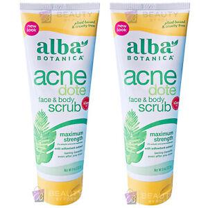 Alba Botanica  Acne Dote Face & Body Scrub PACK OF 2