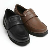 Leather Adjustable Comfort Shoes/Drifters | Brown, Size 6 |