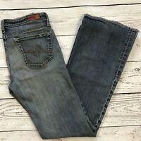 AG Adriano Goldschmied Womens SZ 30 Angel Bootcut Mid-Rise Med Wash Blue Jeans