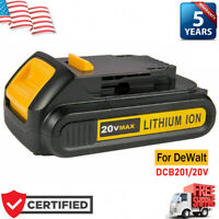 NEW FOR DeWalt DCB201 20V MAX Lithium Ion Cordless Tool Battery DCB207 FAST SHIP