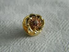 Clogau 9ct Yellow & Rose Gold Welsh Poppy Diamond & Ruby Pin Badge RRP £350.00