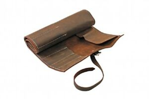 Gunson 77168 | Leather Tool Wallet Roll Antique Finish 15 Pockets