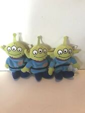 NEW OLD DISNEY STORE BEANIE W/TAG TOY STORY MAN SET OF 3 LITTLE GREEN ALIEN MEN