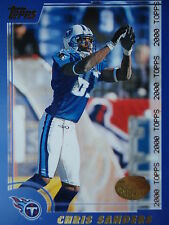NFL 279 Chris Sanders Tennessee Titans TOPPS 2000