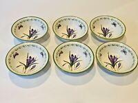 STUDIO NOVA Vintage Garden Bloom Cereal/Fruit/Dessert Bowls- Set of 6- Ret $120