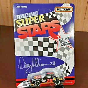 Vintage diecast 1992 Matchbox Mint unpunched Davey Allison NASCAR Super Stars