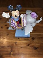 Disney Parks Jim Shore Mickey Flying In Dumbo Ride Figure Retired No Box